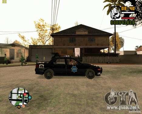 Voiture de police de NFS: MW pour GTA San Andreas sur la vue arrière gauche