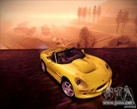 Shelby Series One 1998 für GTA San Andreas Rückansicht