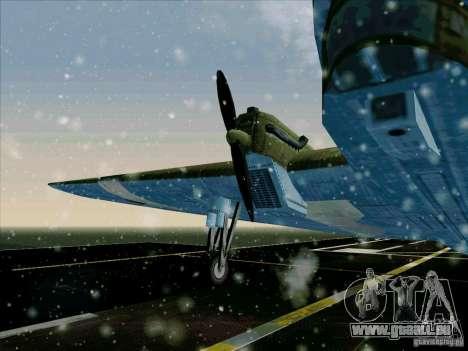 TB-3 pour GTA San Andreas sur la vue arrière gauche