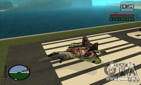 F-22 Raptor Graffity Skin pour GTA San Andreas