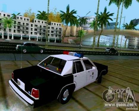 Ford Crown Victoria LTD LAPD 1991 pour GTA San Andreas laissé vue