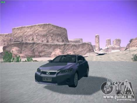 Lexus CT200H 2012 pour GTA San Andreas