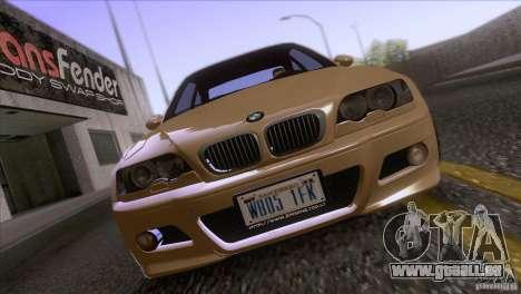 BMW M3 E48 für GTA San Andreas Innenansicht