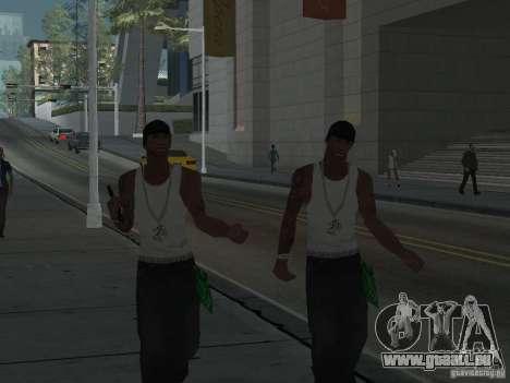 Remplacer toutes les apparences de familles de G pour GTA San Andreas troisième écran