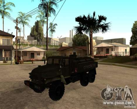 Ural 4320 camion pour GTA San Andreas laissé vue