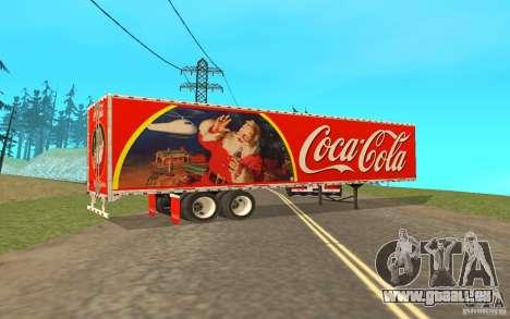 La semi-remorque à la coutume Peterbilt 379 Coca pour GTA San Andreas