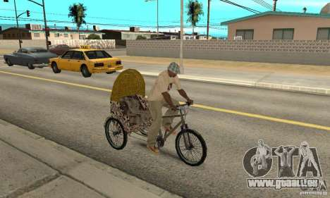 Manual Rickshaw v2 Skin4 pour GTA San Andreas vue de droite