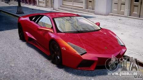 Lamborghini Reventon Final pour GTA 4 est une vue de l'intérieur