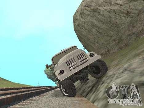 ZIL 131 Main für GTA San Andreas Innenansicht