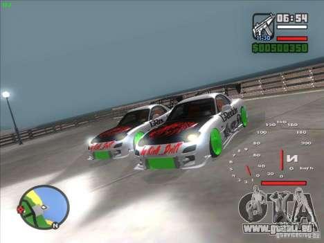 Mazda RX-7 Drift Version pour GTA San Andreas vue de droite