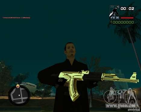 AK-47 Gold pour GTA San Andreas