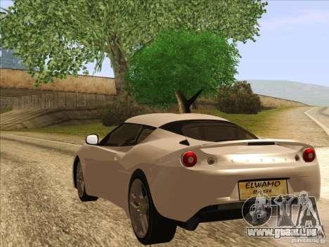 Lotus Evora für GTA San Andreas linke Ansicht