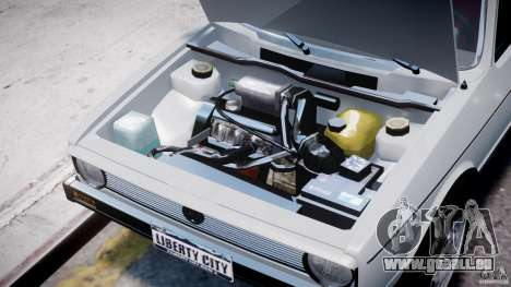 Volkswagen Golf Mk1 pour GTA 4 est une vue de l'intérieur