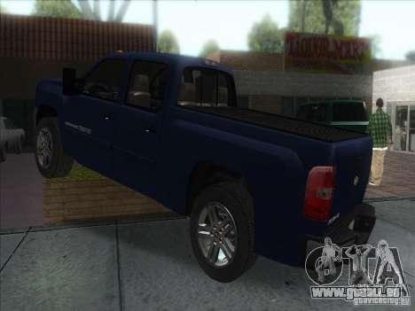 Chevrolet Silverado 1500 pour GTA San Andreas laissé vue