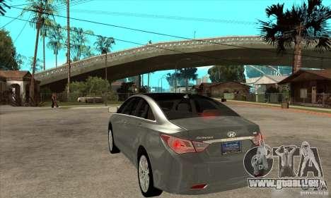 Hyundai Sonata 2011 pour GTA San Andreas sur la vue arrière gauche