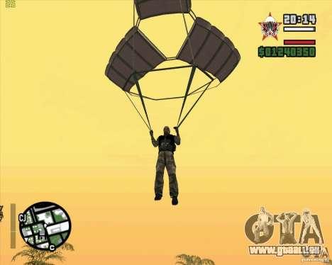 Die neue Fallschirm für GTA San Andreas zweiten Screenshot