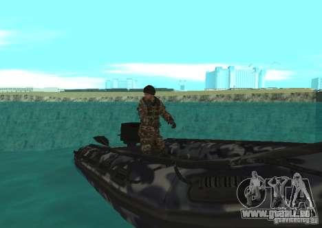 Zodiac-Schlauchboot für GTA San Andreas linke Ansicht