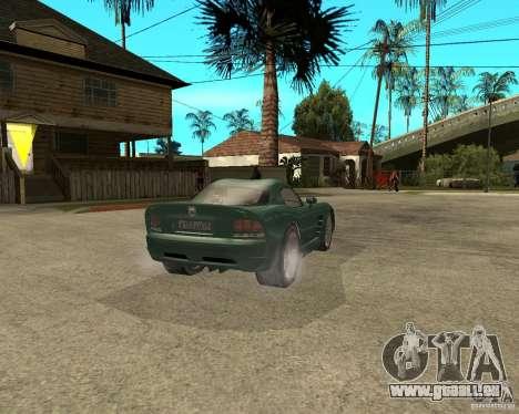 Dodge Viper Srt 10 pour GTA San Andreas sur la vue arrière gauche