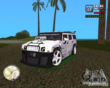 AMG Hummer H2 Hard Tuning v2 für GTA Vice City rechten Ansicht