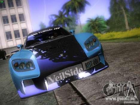Mazda RX 7 Veil Side für GTA San Andreas obere Ansicht