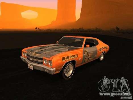Chevrolet Chevelle SS 1970 v.2.0 pjp1 pour GTA San Andreas vue de dessus