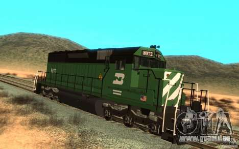 Lokomotive SD 40 Burlington Northern 8072 für GTA San Andreas