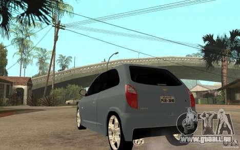 Chevrolet Celta VHC 2011 pour GTA San Andreas sur la vue arrière gauche