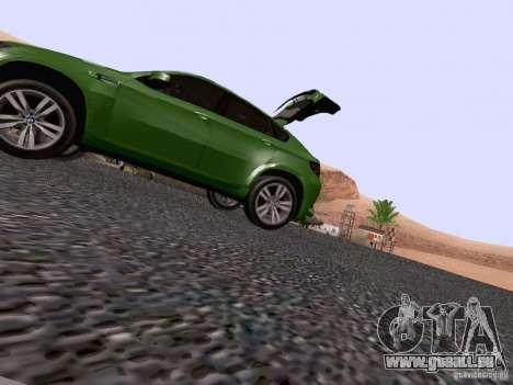 BMW X6 LT pour GTA San Andreas vue de dessus