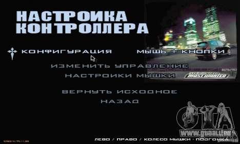 Le Menu Most Wanted pour GTA San Andreas quatrième écran