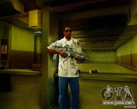 Tavor Tar-21 Digital pour GTA San Andreas troisième écran
