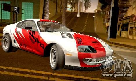 Toyota Supra JZA80 RZ Dragster pour GTA San Andreas laissé vue