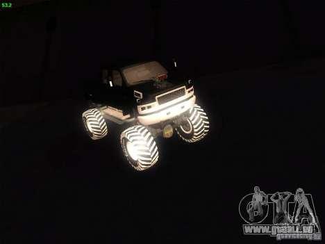 GMC Monster Truck pour GTA San Andreas sur la vue arrière gauche