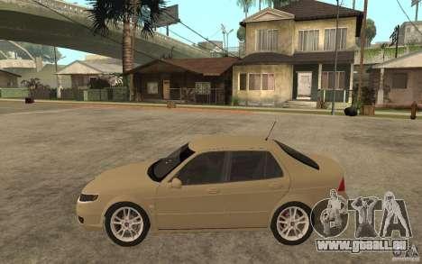 Saab 9-5 pour GTA San Andreas laissé vue