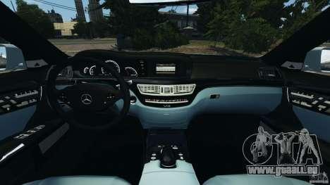 Mercedes-Benz S65 AMG 2012 v1.0 pour GTA 4 est une vue de l'intérieur