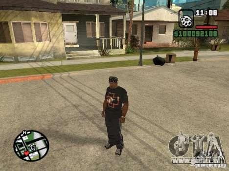 Rammstein t-shirt v2 pour GTA San Andreas troisième écran