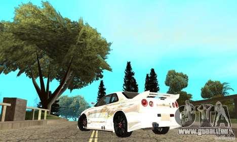 Nissan SkyLine R34 Tunable V2 für GTA San Andreas