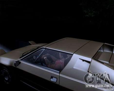 Lamborghini Jalpa 3.5 1986 für GTA San Andreas Innenansicht