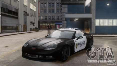 Chevrolet Corvette LCPD Pursuit Unit pour GTA 4 Vue arrière