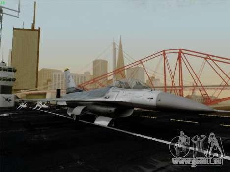 F-16C Warwolf pour GTA San Andreas vue intérieure