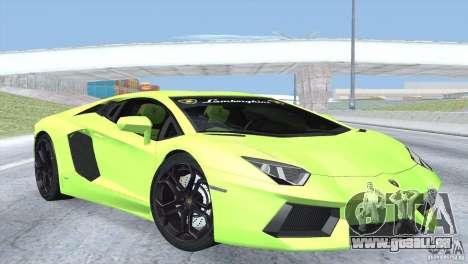 Lamborghini Aventador LP700-4 2012 pour GTA San Andreas