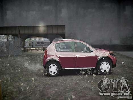 Dacia Sandero Stepway pour GTA 4 est une vue de l'intérieur