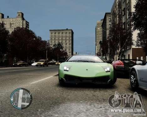 Lamborghini Murcielago LP 670-4 SuperVeloce 2010 pour GTA 4 est une vue de l'intérieur