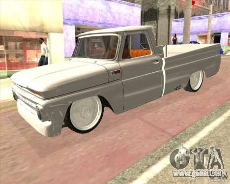 Chevrolet C10 1966 Low Gray für GTA San Andreas