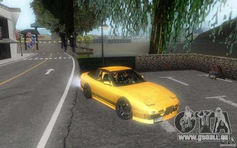 Nissan 180sx v2 pour GTA San Andreas vue intérieure