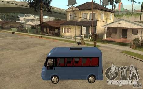 Karsan J10 pour GTA San Andreas laissé vue