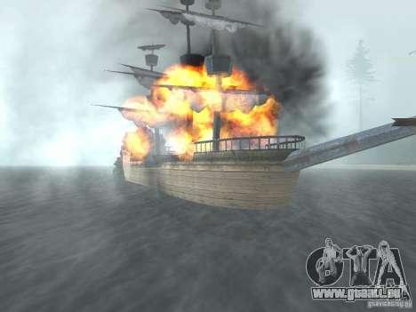 Bateau pirate pour GTA San Andreas troisième écran