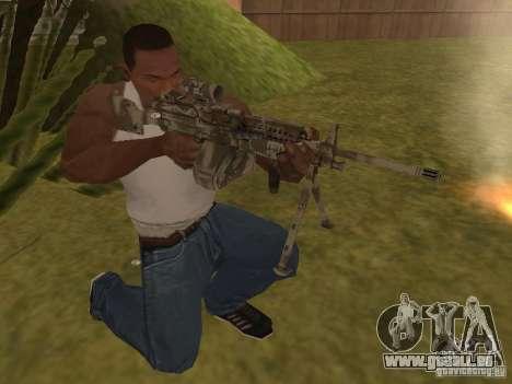 Mitrailleuse MK-48 pour GTA San Andreas deuxième écran