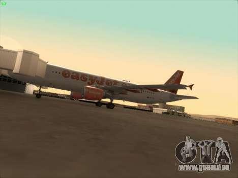 Airbus A320-214 EasyJet pour GTA San Andreas vue de dessus