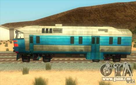 Un train reliant le jeu Half-Life 2 pour GTA San Andreas sur la vue arrière gauche