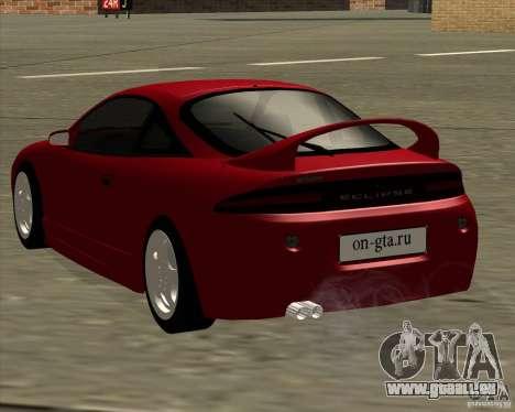 Mitsubishi Eclipse GS-T pour GTA San Andreas vue de droite